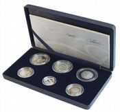 2007 6 x Coin Silver Proof Family Collection